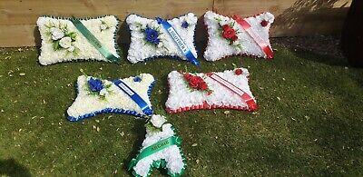 Pillow Shape Silk Artificial Funeral Flowers Wreath/Memorial/Grave/Tribute 20x12 7