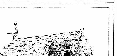 US SLAVE MAP 1861 AL Phenix City Pike Road Pinson Pleasant Grove Prattville BIG
