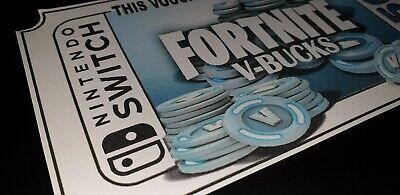 'Novelty' Gift Voucher... Fortnite V-Bucks Gaming Xbox Playstation - Not Codes 2
