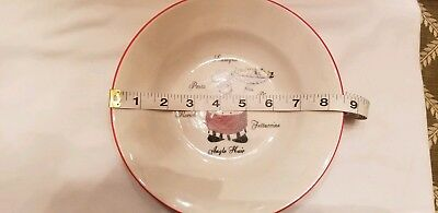 4 Emerald Italian French Chef Cook Waiter Pasta Bowl Soup Cereal Bowl CUTE! 3