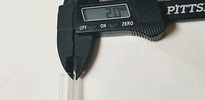 "Pyrex Glass Blowing 11- 12"" Long 5 Tubes  12 mm OD Tubing Thick Wall Sharp Cut 3"