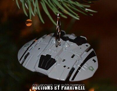 8 of 10 Battlestar Galactica Cylon Raider Custom Christmas Ornament  Spaceship Viper NEW - BATTLESTAR GALACTICA CYLON Raider Custom Christmas Ornament