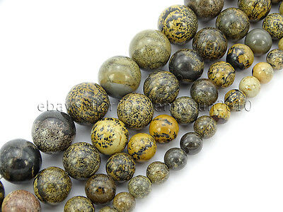 Natural Artistic Jasper Gemstone Round Spacer Beads 15.5'' 4mm 6mm 8mm 10mm 12mm