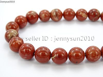 Natural Red Jasper Gemstone Round Loose Beads 16'' 2mm 3mm 4mm 6mm 8mm 10mm 12mm