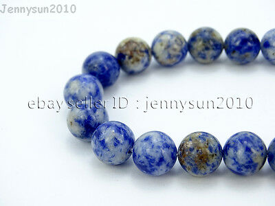 Natural Blue Spot Jasper Gemstone Round Beads 16'' 2mm 3mm 4mm 6mm 8mm 10mm 12mm
