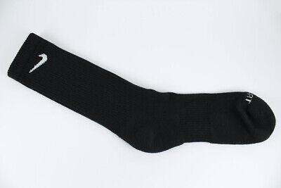 Nike Dri-Fit Plus Cushion Crew Socks 3-Pair Black Training Us Men Shoe Size 6-15 4