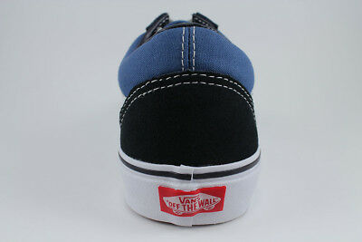558ba5119b6a6 VANS OLD SKOOL Navy Blue/white Low Suede Canvas Classic Skate Sk8 Us Mens  Sizes