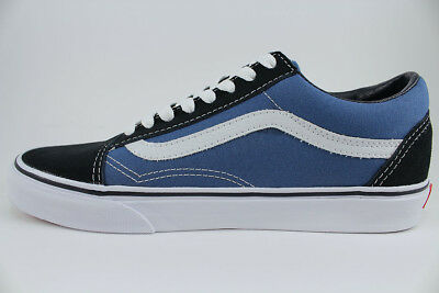 VANS OLD SKOOL Navy BlueWhite Low Suede Canvas Classic