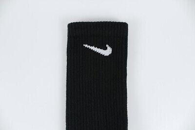Nike Dri-Fit Plus Cushion Crew Socks 3-Pair Black Training Us Men Shoe Size 6-15 5