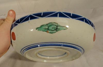 Antique Chinese Japanese Imari Decorated Enamel Blue and White Bowl 4