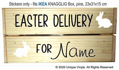 Personalised Easter Treat Vinyl Decal Sticker Chocolate Box Crate Hunt