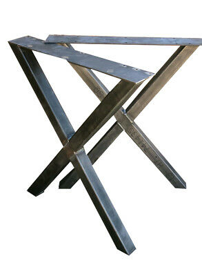 2X PIEDI per tavolo, Gambe tavolo metallo finish nero bianco silver ...