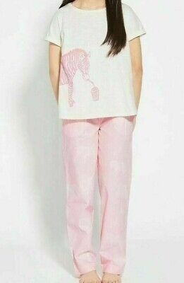 John Lewis & Partners Girls' Zebra Print Pyjamas Pink 10 YEARS BNWT FREEE P&P 2