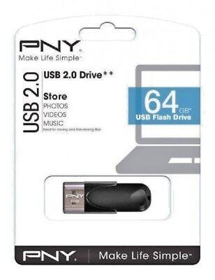 Genuine PNY HIGH SPEED 64gb USB 2 2.0 Flash Drive Memory Stick Pen Storage Drive 3