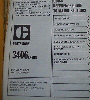 CAT CATERPILLAR 3406 Industrial Diesel Engine Parts Manual Book catalog 90U  list