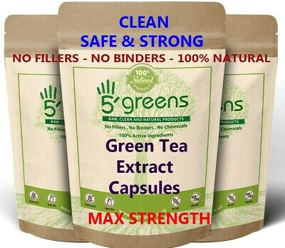 Green Tea Extract Capsules 9400mg 98% Polyphenols, 80% Catechins ,50% EGCG 5