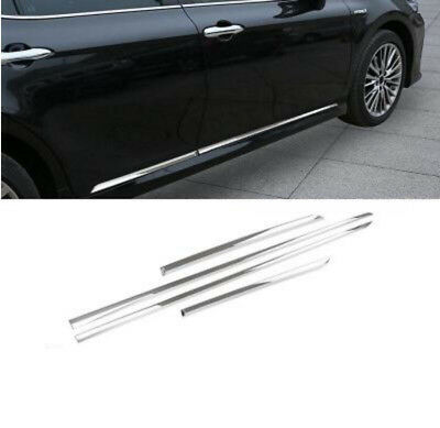 Auto Replacement Parts Chrome Side Door Body Bottom Molding Cover Trim 4pcs Fit For Toyota Camry Xv70 2018