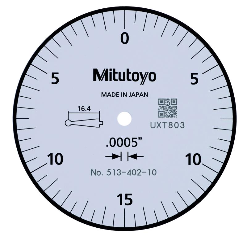 0.0005 STD 0.03 Mitutoyo 513-412-10E DIAL TI 0.0002 Accuracy BAS White