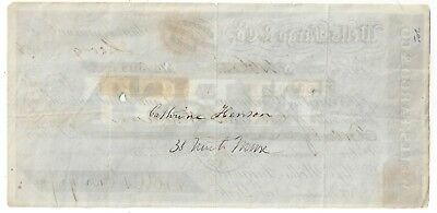 AMERICAN EXPRESS Co. 1866 Money Order/Sight Draft Gold Coin $20 Rev Stamp