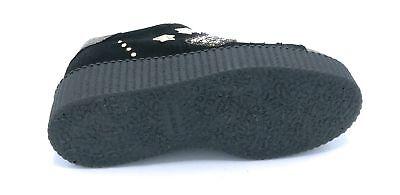 OVYÈ PATTY sneakers lacci zeppa in camoscio nero con