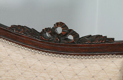 Antique French Louis XVI Style Walnut Salon Occasional Armchair (Circa 1880) 3