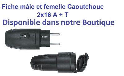 Prise Fiche socle mâle ou femelle CEE 5x16A - triphasé 5 Pôles IP 44 marque PCE