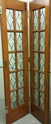 Set Of Antique Bevel Glass Bi- Fold Doors 6