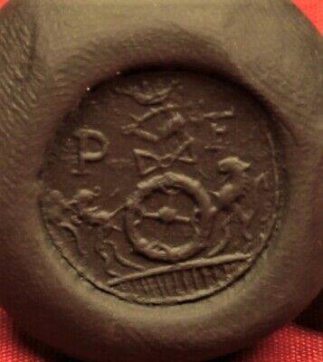 "Nice Medieval Seal Matrix Stamp With ""P F"" Monogram. 16. Century Seal 3"