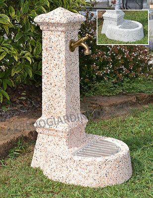 Fontana Giardino Terrazza Esterno In Pietra Arredo Graniglia
