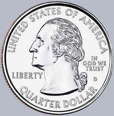 2013-D Mount Rushmore National Memorial Quarter Uncirculated From Mint Roll 2