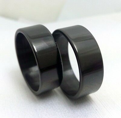 Job lot 50pcs Simple Plain Stainless Steel black rings Men Women Fashion Jewelry
