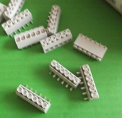 Terminal Block 6 Way 15 Amp 5mm KRESL06 Right Angle PCB Lumberg x 25pcs @ £0.04p 4