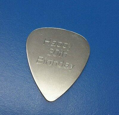 Personalised Custom Engraved Guitar Pick Plectrum GUITARIST BIRTHDAY GIFT