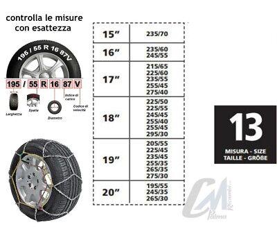 CATENE DA NEVE LAMPA R7 RUOTA 225//45-17 7MM OMOLOGATE V5117  R17  GR9.5