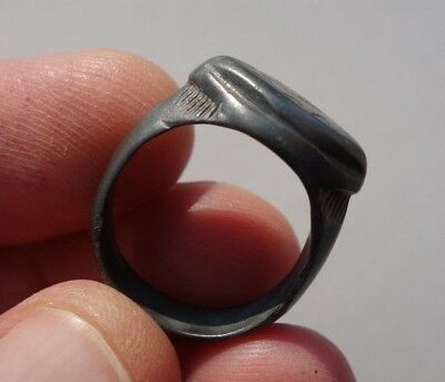ancient Middle Ages - Dark Ages,  bronze nicely carved ring 3
