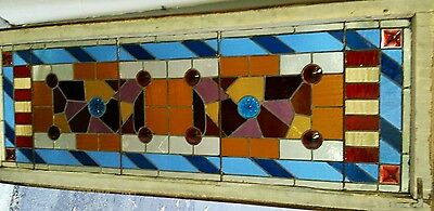 Antique Eastlake Victorian stained glass window. 2