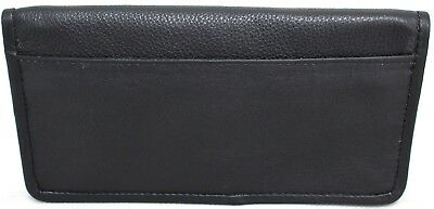 Quality Full Grain  Vintage Leather Tobacco Pouch. Style:12033. BLACK/BROWN 11