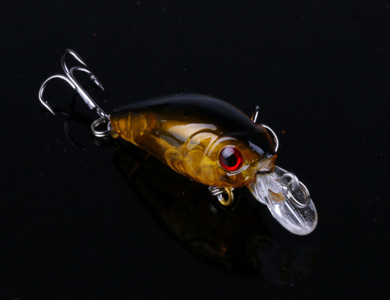 5pcs Fishing Lures Crankbaits Treble Hooks Randomly Baits Tackle Bass Minnow 6
