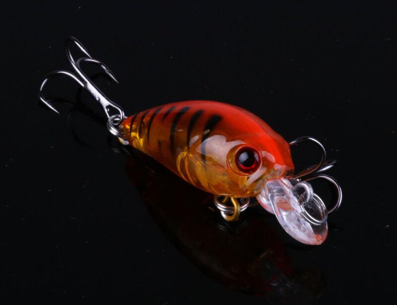 5pcs Fishing Lures Crankbaits Treble Hooks Randomly Baits Tackle Bass Minnow 7
