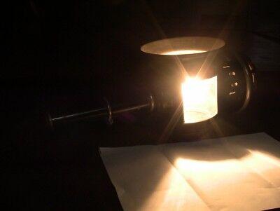 Lanterna a GAS da Carrozza Original trasformata in AbatJour  a Muro Antiquariato 3