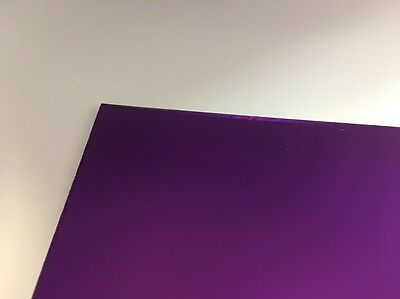 "1 Sheets 1//8/"" PURPLE  Mirror Acrylic Plexiglass 24/"" x  24/"""