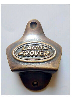 2 LAND ROVER Bottle Opener solid 100% brass works AGED  finish screws included B 2