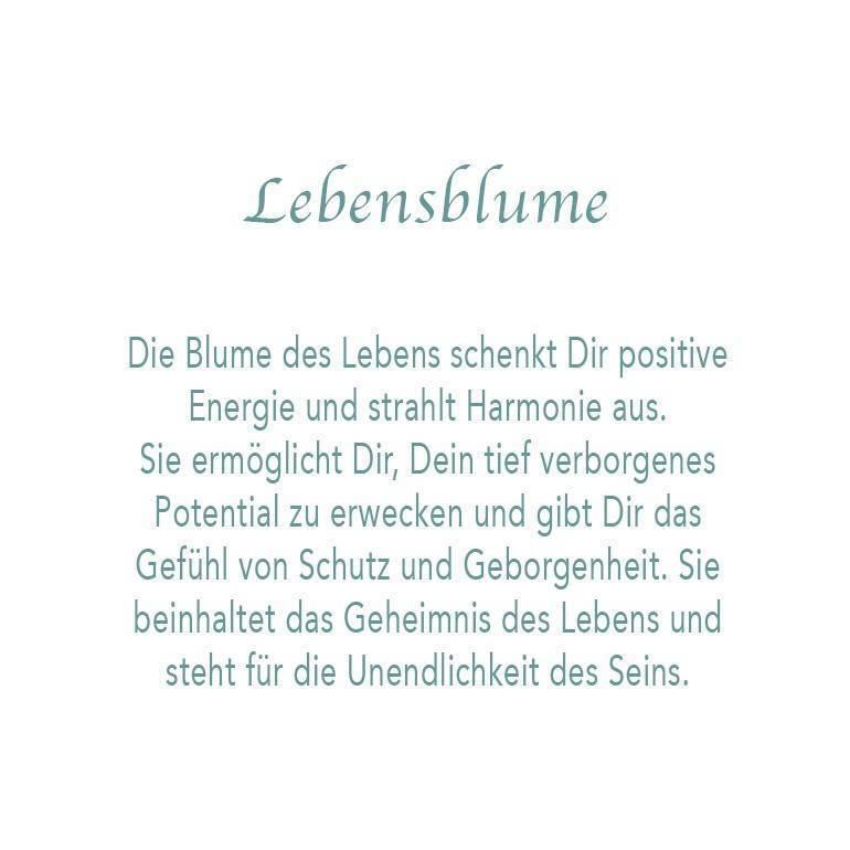 Armband Lebensblume Edelstahl Blume des Lebens Flower of Life Yogaschmuck Tara J