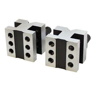 1-3/8 x 1-3/8 x 1-3/16 Inch V Block & Clamp Set Steel Gauge Gage Machinist Tool 3