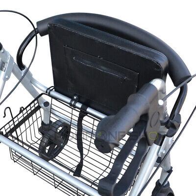 PAROS Déambulateur à roulette pliable 4 roues fauteuil roulant rollator léger 4