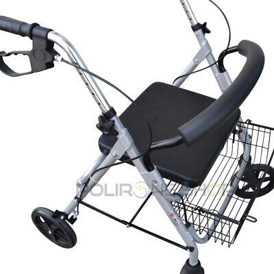 PAROS Déambulateur à roulette pliable 4 roues fauteuil roulant rollator léger 3