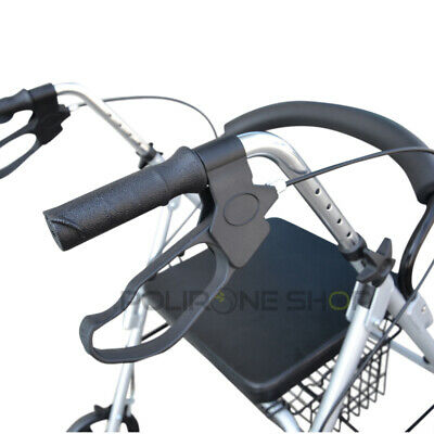 PAROS Déambulateur à roulette pliable 4 roues fauteuil roulant rollator léger 5