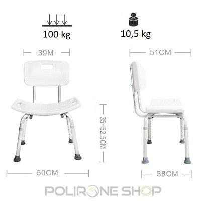 RODI Sgabello sedia per doccia bagno anziani disabili bambini sedile vasca da x