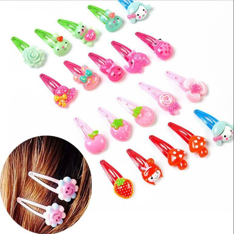 Wholesale 20pcs/Sets Mixed Cartoon Baby Kids Girls HairPin Hair Clips Jewelry- 4