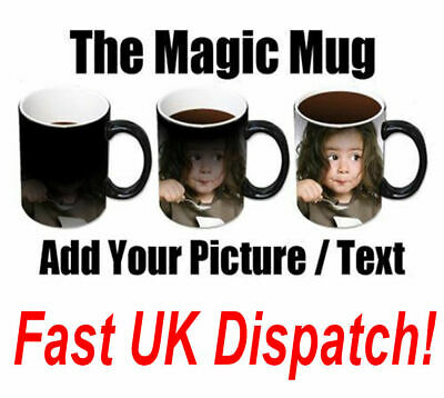 New Personalised Heat Colour Changing Gift Magic Mug Image Photo Chrismtas Cup 2